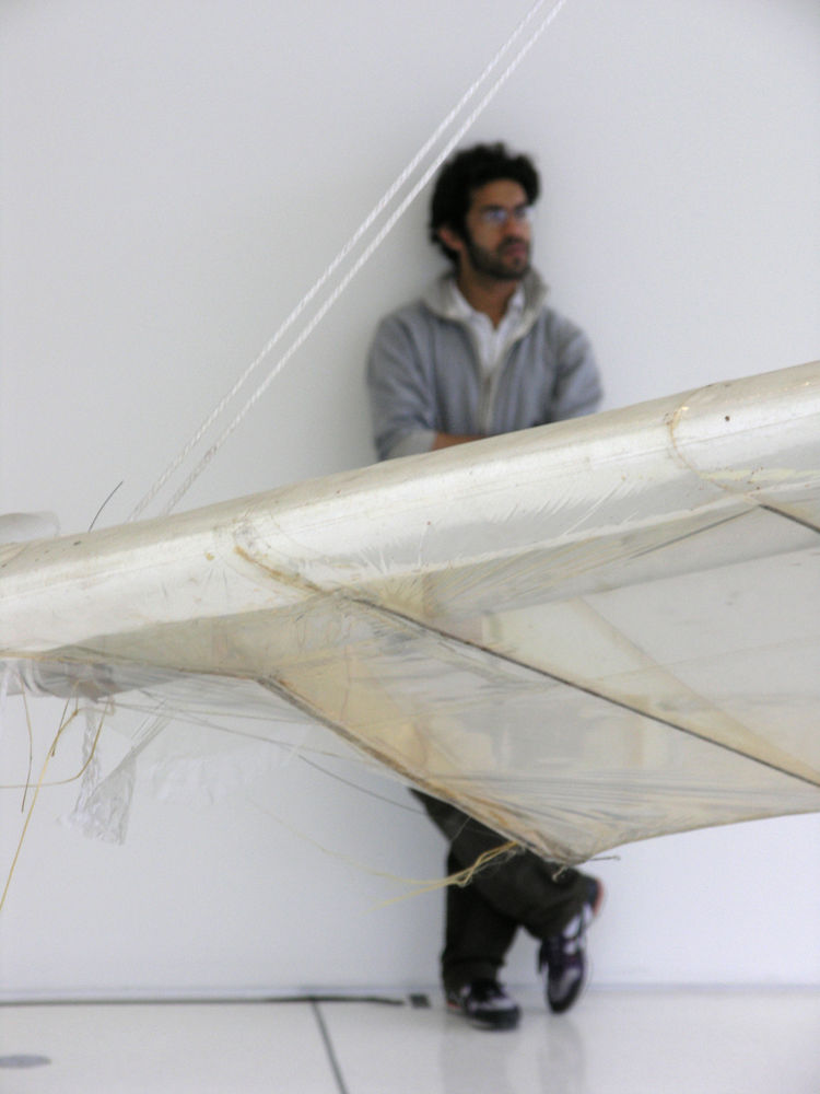 "A site-specific installation, ""Daedalus"" was adapted to fit the Media Lab's opening as a representation and a reminder of the fragments left behind by technological progress.   As proposed by Ahmed: ""People have been dreaming about wings for thousands of"