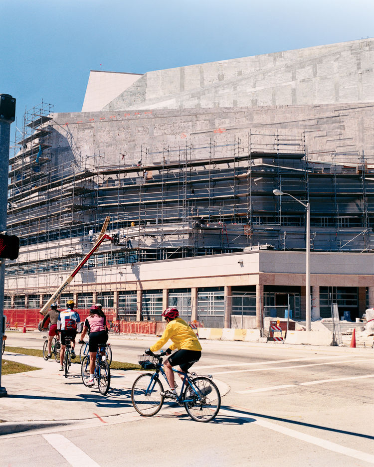 The soon-to-be-completed Performing Arts Center designed by Cesar Pelli in downtown Miami provides a fitting end to Leff's tour and a perfect beginning for a re-energized business district.