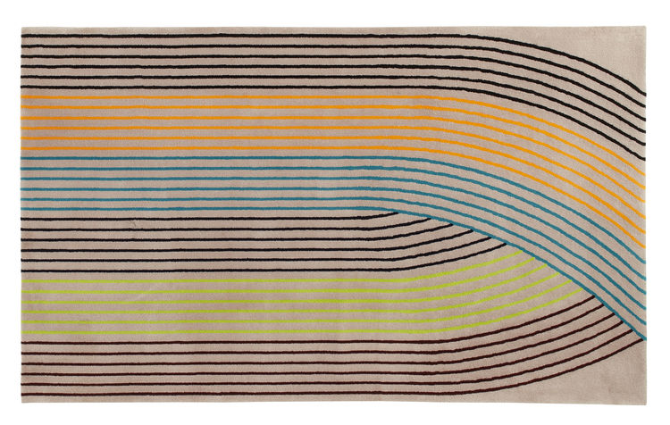 Pierre Charpin designed two lined rugs for Ligne Roset this year, each hand-tufted 100% New Zealand wool, and each balancing a repeating geometric design with a hint of intrigue.