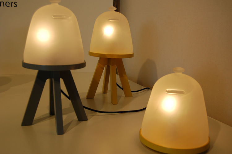 """Local Milanese firm <a href=http://a-rstudio.it/"""">A/R Studio</a> created this series of lamps called Firefly. As designer Antigone Acconci explained to me, the inspiration came from childhood, when she and her siblings would collect fireflies in the summe"""