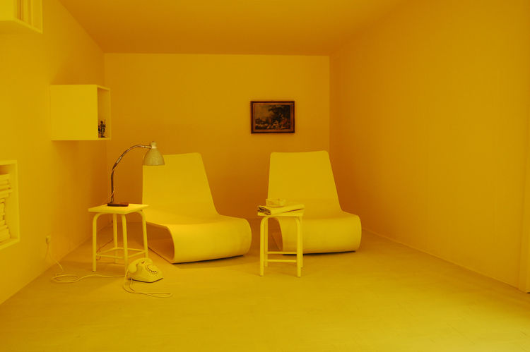 "Just down the way from B&B Italia is <a href=http://www.porro.com/ita/main1.php"">Porro</a>, where designer Piero Lissoni created an installation entitled Still Life, Moving Life. There are several room vignettes, each setting swathed in a different vibran"