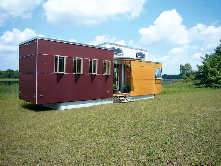 Andy Thomson's miniHome takes cues from the trailer park (it's mobile) but pushes a new aesthetic and uses sustainable building practices and materials.