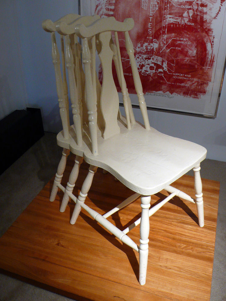 "<a href=""http://lamodern.com/"">Los Angeles Modern Auctions</a> (LAMA) displayed a 1997 Steven Litchfield chair created as an homage to Marcel Duchamp's Nude Descending a Staircase."