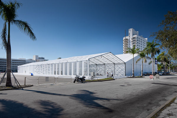 The tent was the first temporary structure commissioned by Design Miami.