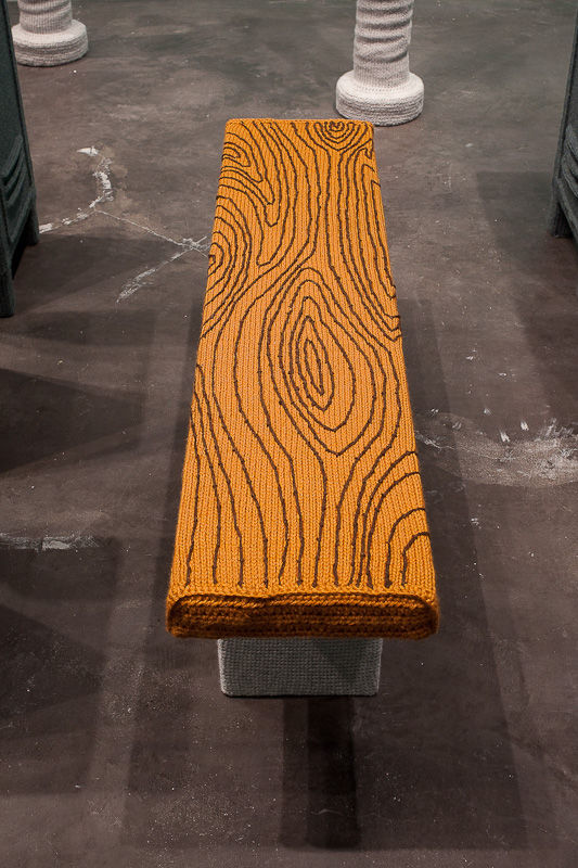 Vincent's attention to details is even present in the stitched wood grain of his locker room benches.