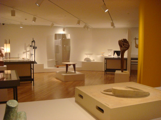 The comprehensive exhibition offers a diverse selection of Noguchi's work and is organized thematically. Of note is the furniture on display, which traces the how Noguchi's designs evolved over time.