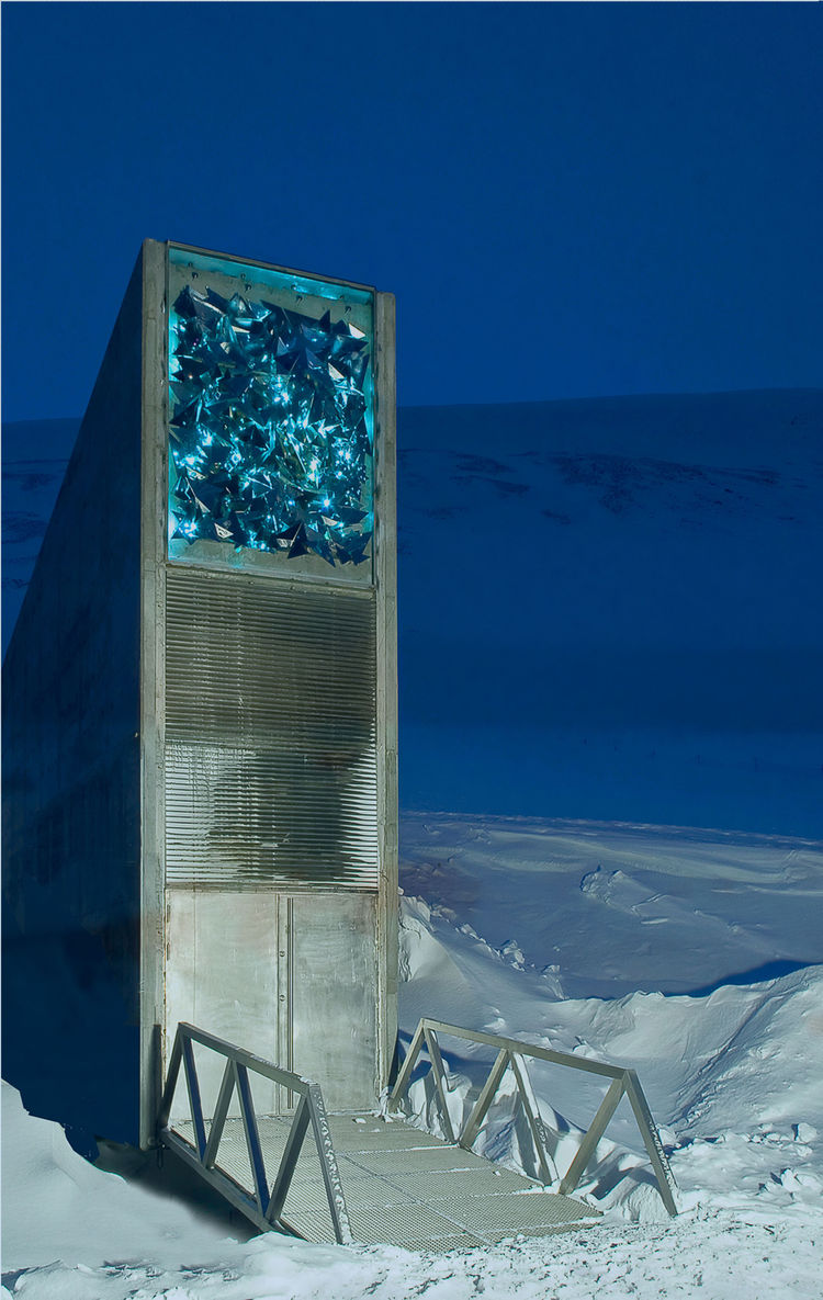 Svalbard Global Seed Vault, Svalbard, Norway, 2007. Designed by BC Arkitektur Barlindhaug Consult A.S. of Norway and Project Architect Peter Wilhelm Söderman of Finland. Photo by Jaro Hollan.