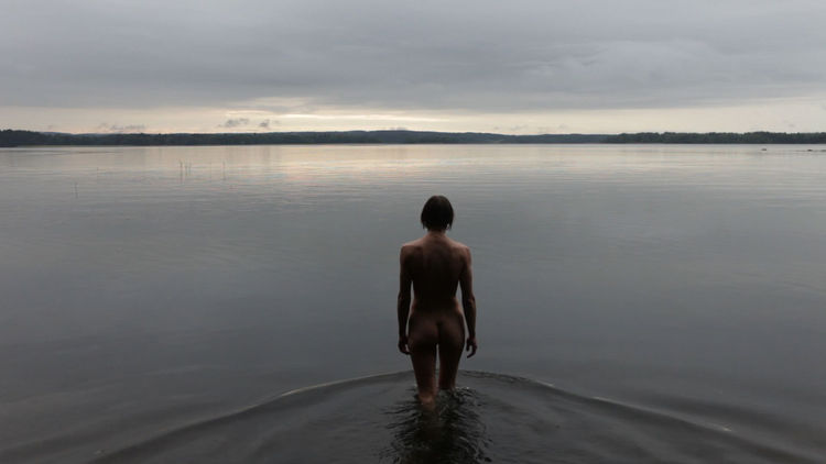 'The Black Bay Sequence,' silent video by Elina Brotherus of Finland, 2010.