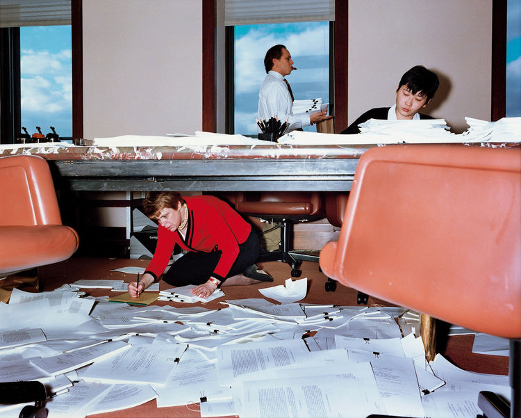 'Lawyer's Office, New York,' by Lars Tunbjörk of Sweden, 1997. Image courtesy of Amador Gallery, New York.