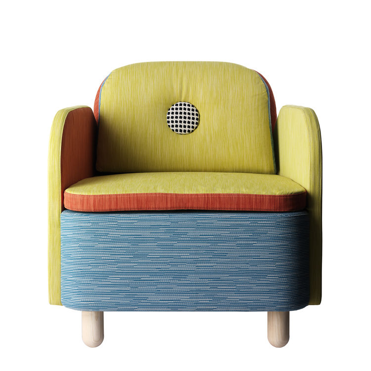 """The Boop Armchair. """"boop: The mystery of the boop shall never be revealed. But when saying """"Boop"""" you must poke a random person on the nose."""""""