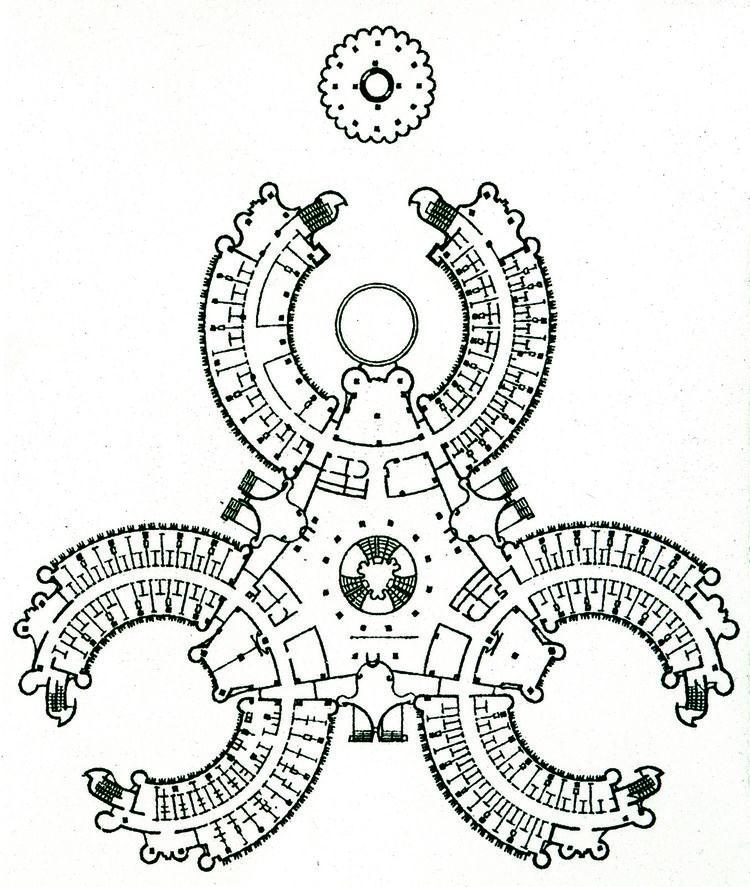 The plan of Romaldas and Ausra Silinskan's Hydrokilinika.<br /><br />Romaldas and Ausra Silinskan, <i>Hydroklinika</i>, Druskinkai. Plan.