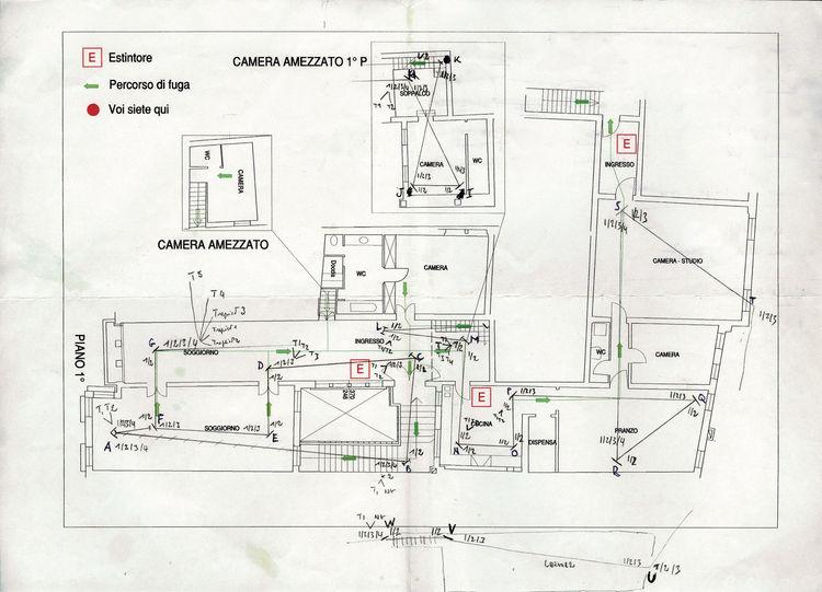 The plan of Pallazzo Dona.<br /><br />Nicolas Grospierre, <i>TATTARRATTAT</i>, 2010.