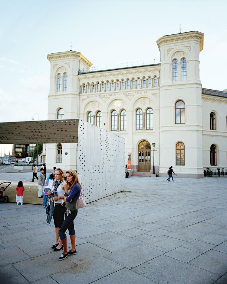 David Adjaye's conversion of a former train station into the Nobel Peace Center.