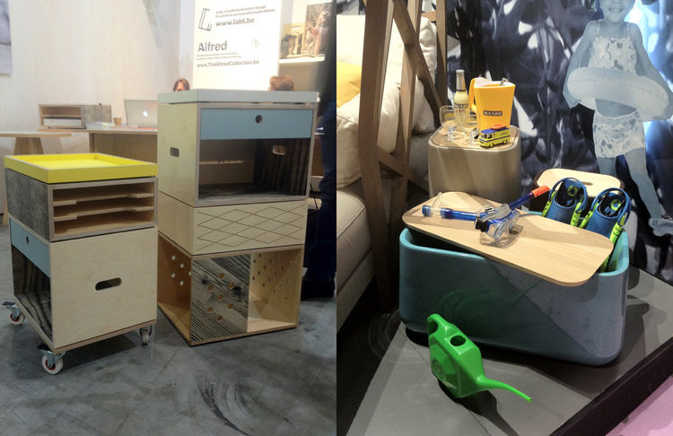 "I noticed a lot of compartmentalization in the furniture shown at Maison & Objet, from a Mondrian-esque coffee table to the filing cabinets shown by <a href=""http://www.labt.be/"">LABT</a> (left) out of Ghent, Belgium, and the containers designed by <a hre"
