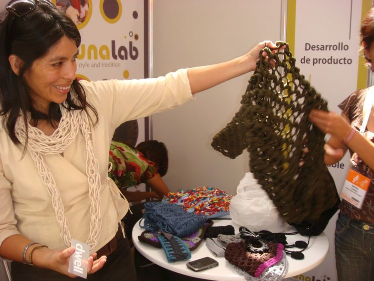 "<a href=""http://nunalab.com/"">Nuna Lab</a> had some mighty fine knits, all made from reclaimed and upcycled materials."