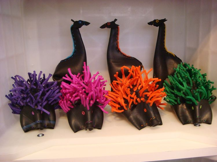 "These hedgehog-like toys by <a href=""http://geldres.com/"">Geldres Design</a> are made of reclaimed rubber from tires."