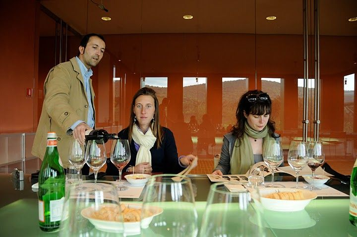 Massimo pours the first of several wines created on-site. Among the wines we tasted were Poggio alla Guardia, le Sughere di Rocca di Frassinello, and Rocca di Frassinello, the very first label produced.