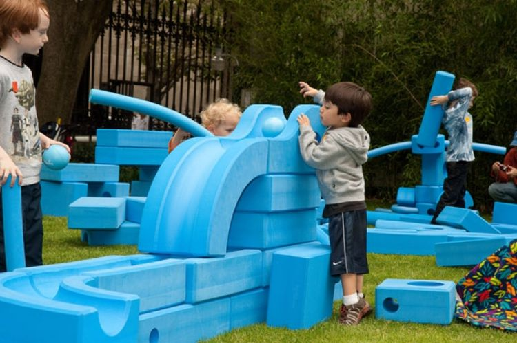"<p>David Rockwell's <a href=""http://imaginationplayground.org"">Imagination Playground</a>—notable for its lack of fixed equipment, and plethora of loose parts—is scheduled to open later this summer at the South Street Seaport in New York City."
