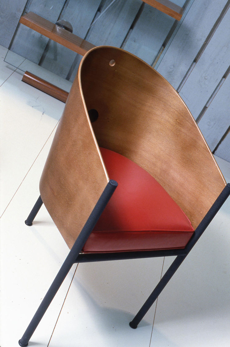 "In 1982 Philippe Starck won VIA's second Carte Blanche award, a grant given to a forward-thinking project by a promising designer, with his ""Don Denny"" chair. Later, this famous chair appeared in the Café Costes.  Starck was a key figure in VIA's history,"