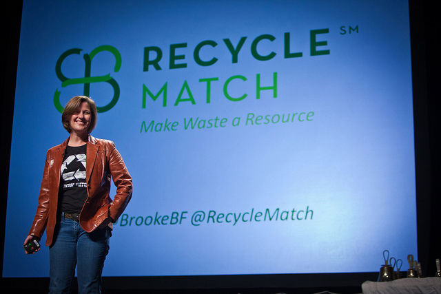"Another Social Innovation Fellow, Brook Betts Farwell is the co-founder of <a href=""http://www.recyclematch.com"">RecycleMatch</a>, an online company that's making a new market for waste by connecting businesses with castoff materials to those that can use"