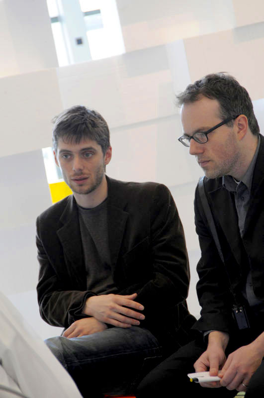 L-R: Tobias Putrih and Michael Meredith, photo by Colin Davison