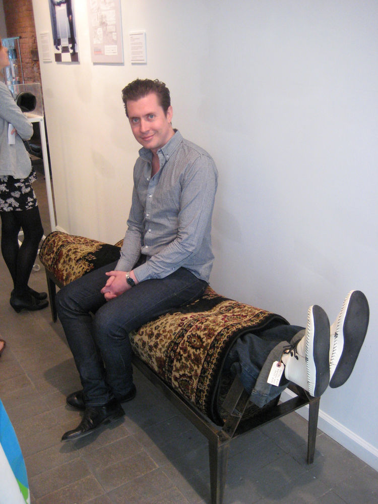 """Kevin Carpet Bench by <a href=""""http://subports.com"""">Will Robison</a>. There are some folks in this world who find pleasure by being rolled up in a carpet, and there are some who seek it by sitting on them."""