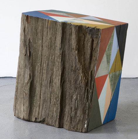 Serena Mitnick-Miller contributed these hand-painted reclaimed wood block sculptures (price upon request).