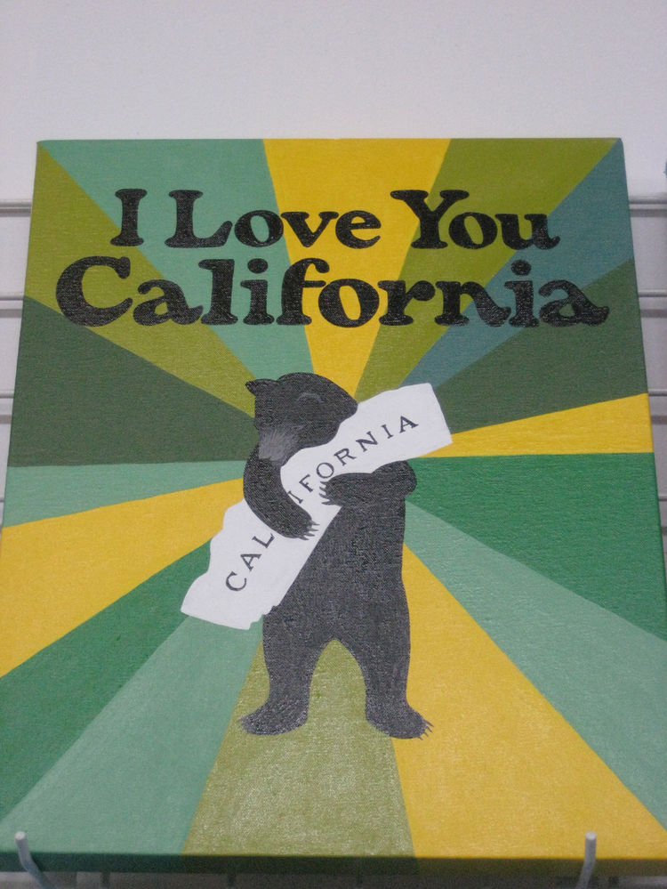 "There's something about the way this bear embraces his state that just truly tugs at the heartstrings. Artist Annie Galvin is an SF local, and half of <a href=""http://www.3fishstudios.com/"">3 Fish Studios</a> (along with her husband, Eric). If you're not"