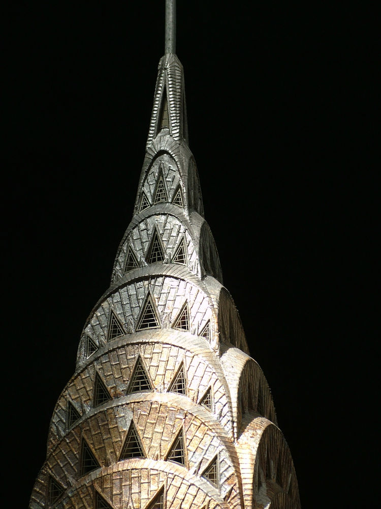 Richards has developed a series of models of iconic New York structures, including the Chrysler Building.