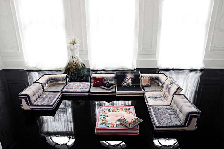 Mah Jong Couture Sofa, designed by Hans Hopfer and dressed by Jean Paul Gautier, 2010.