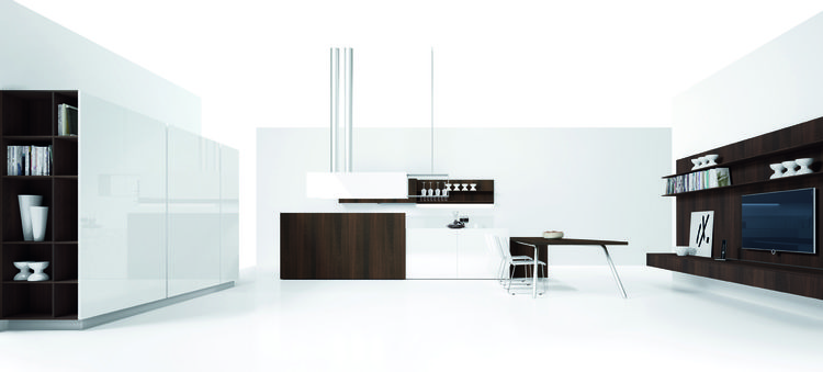"This new contemporary kitchen for <a href=""http://www.gruppoeuromobil.com"">Euromobil</a> designed by Edoardo Gherardi focuses on craft and tradition, bringing the best in design sensibility to create a flawless and friendly environment.  Different areas o"
