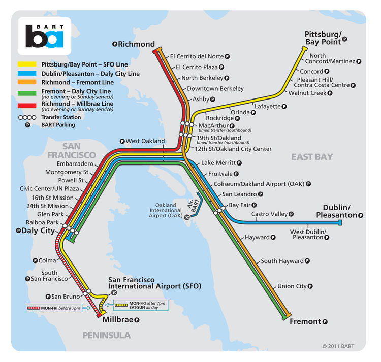 "<h3>San Francisco</h3> San Francisco worried only about its rail customers when <a href=""http://www.lohneswright.com/"">Lohnes + Wright</a> designed its original simple Bay Area Rapid Transit (BART) map. While the map has gone from schematic in the 1970s t"