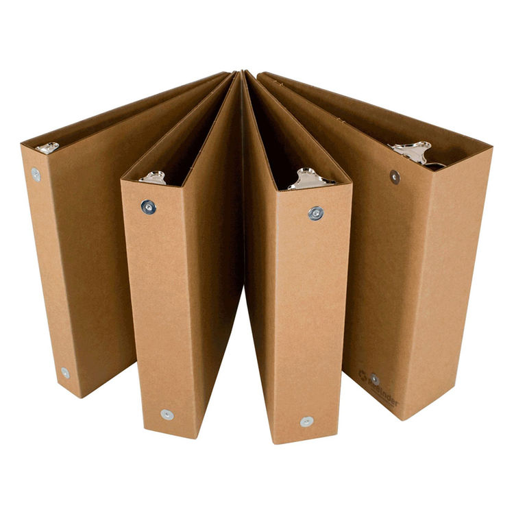 "These 3-ring binders by <a href=""http://www.rebinder.com/recycled-3-ring-binders"">ReBinder</a>  have so much going for them. They are a great neutral canvas for doodles,  made in the USA, Seattle to be exact, priced right, and they are made completely fro"