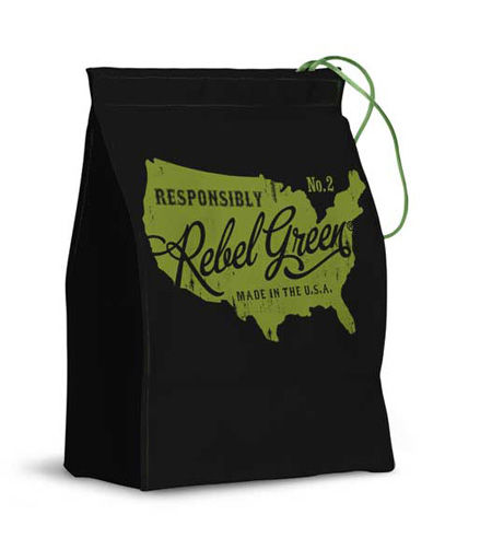 "On their website, <a href=""http://www.rebelgreen.com/lunchbags.html"">Rebel Green</a>  explains their philosophy simply by writing, ""we love good design and we care about the environment. You should never need to sacrifice one for the other."" Part of carin"