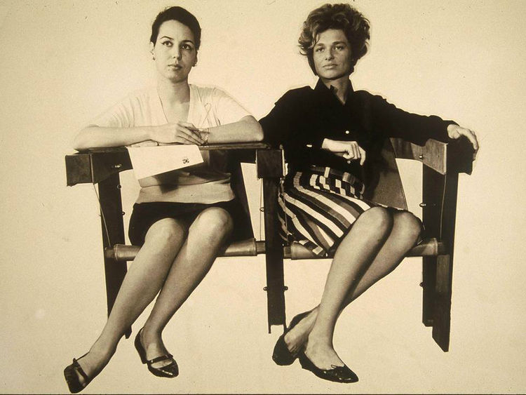 "Models in the Candangos Auditorium armchair, 1964. Photo courtesy <a href=""http://espasso.com/"">Espasso</a>."