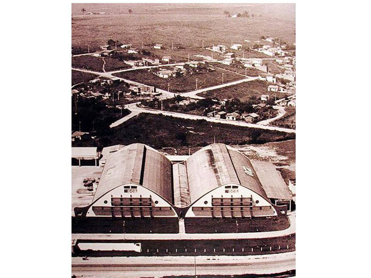 "The Oca Industries factory in Sao Paolo, 1950s. Photo courtesy <a href=""http://espasso.com/"">Espasso</a>."