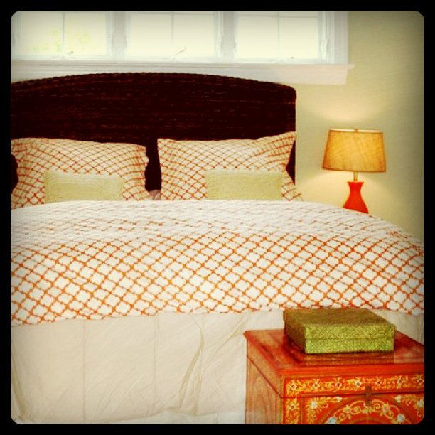 This retro shot of a bedroom found via a search for #orange.