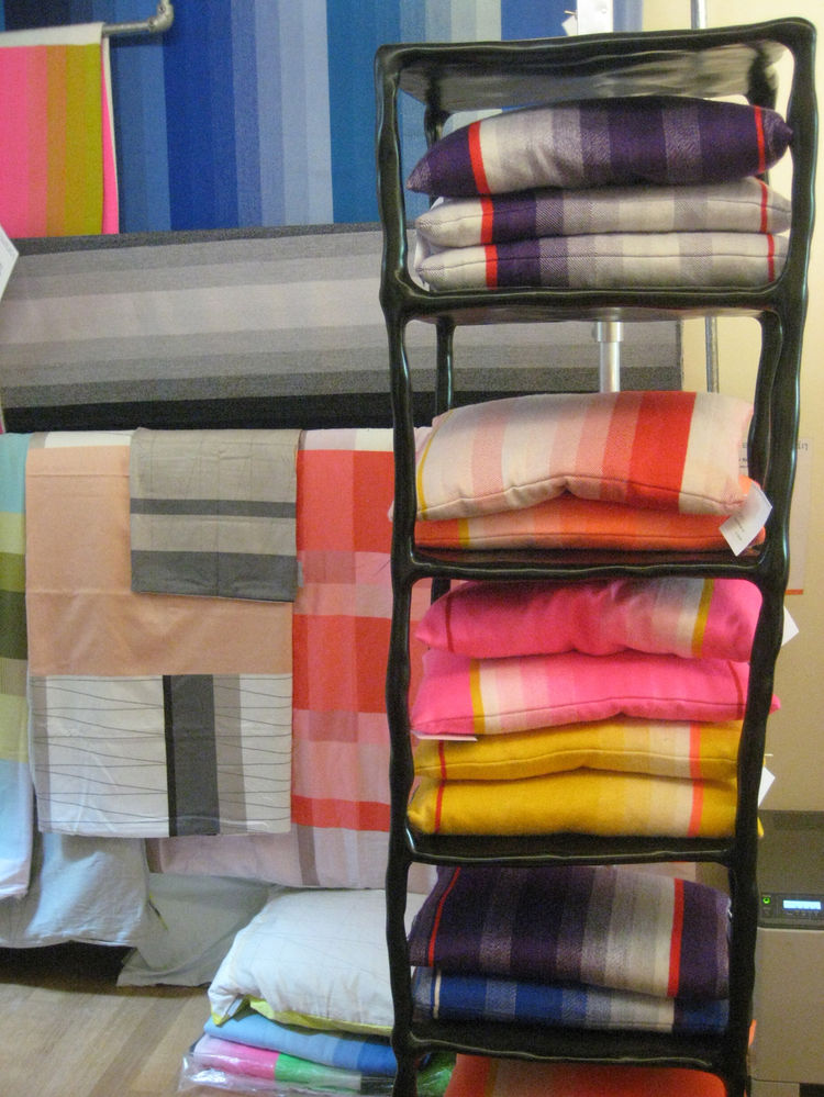 """Absolutely beautiful pillows and blankets from local design team <a href=""""http://www.scholtenbaijings.com/"""">Scholten & Baijings</a> at the Frozen Fountain."""