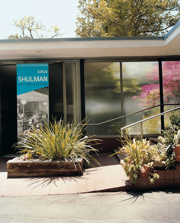 """""""I'm always identified as being the best architectural photographer in the world,"""" declares Shulman. """"I disclaim that. I say, 'One of the best.'"""" The photographer paid $2,500 for his two-acre property, and $40,000 for the Raphael Soriano–designed studio a"""