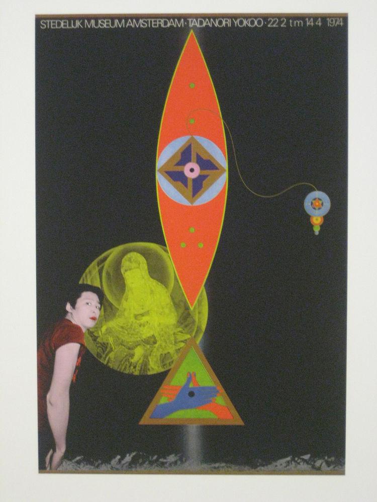 "Tadanori Yokoo (b. 1936 Hyogo). Poster for ""Tadanori Yokoo,"" 1974."