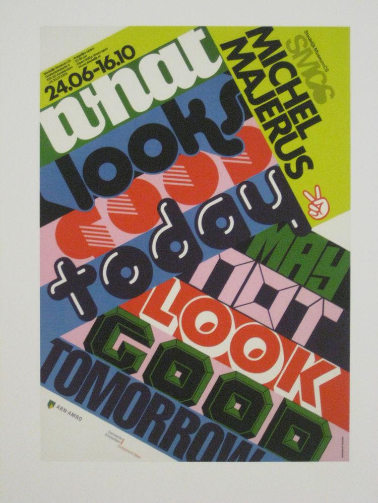 """Machine. Poster for """"Michel Majerus,"""" 2005."""