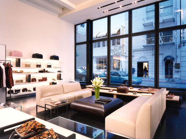 """Here is a glimpse from the interior of the Marc Jacobs store in San Francisco out to Maiden Lane, one of the city's pedestrian alleys. Photograph by <a href=""""http://www.warcholphotography.com/"""">Paul Warchol</a>."""