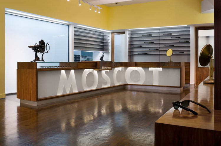 """Famed eyewear brand Moscot employed Jaklitsch for this shop in New York. Photograph by <a href=""""http://www.warcholphotography.com/"""">Paul Warchol</a>."""