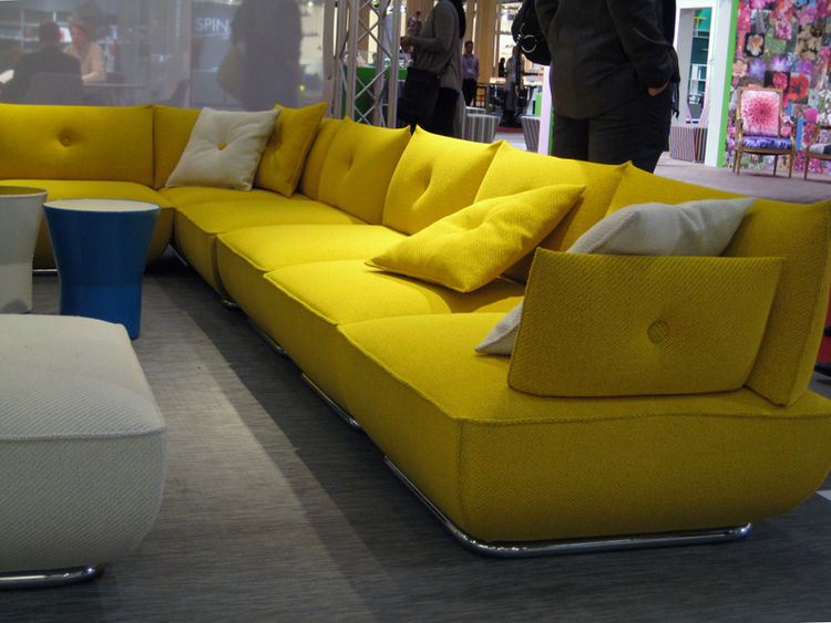 The Dunder sofa by Blå Station, as glimpsed on the showroom floor of the 2010 Stockholm Furniture Fair.