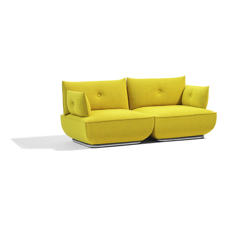 "The two-seat configuration of the Dunder sofa. Blå Station is represented in the US by <a href=""http://www.icfsource.com/"">ICF Source</a>."