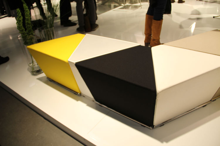 "The Area Table and Footstool, by Anya Sebton, was a big hit for <a href=""http://www.lammhults.se/"">Lammhults</a> in 2010. It consists of five modular units, each with magnets embedded within to make it easy to regroup. And look! The end piece happens to b"