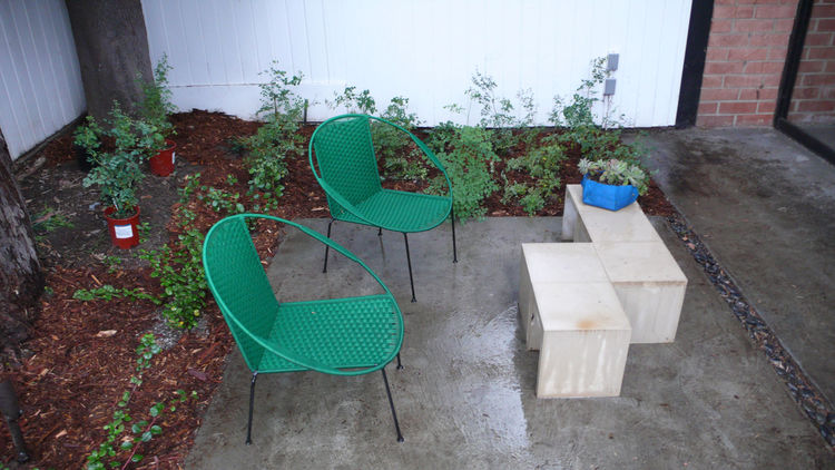"A peek at the newly planted garden. Freshly mulched cedar looks great under the cedar. Tonight it is pouring rain again, hopefully giving the plants a chance to take root.<br /><br /><p><em><strong>Click <a href=""http://www.dwell.com/people/linda-taalman."