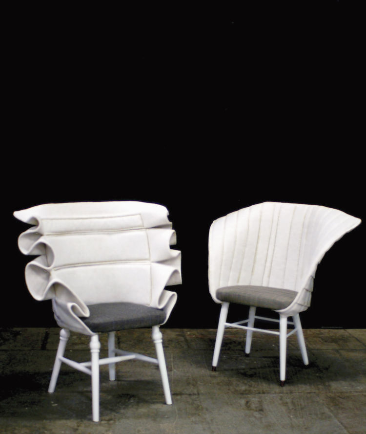 RE:Cover polyester felt chairs by Fredrik Farg