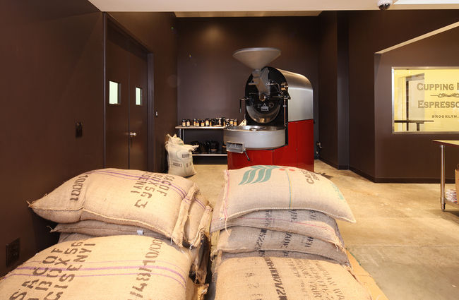 The roaster is a Probat Burns P25 imported from Germany.
