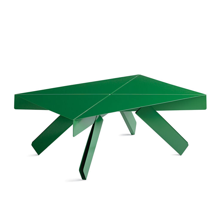 """To Jörg Boner, the Universal Small Object is an exercise in """"how far form can distance itself from function""""—to us, it's just a cool little creased-steel table, stool, or rack. <a href=""""http://www.joergboner.ch/en/p_universal.html"""">More information here.<"""